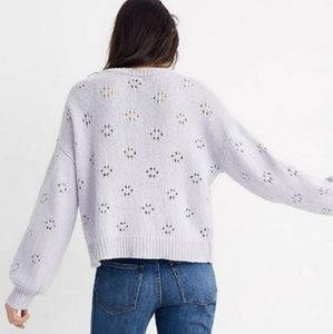 NWT Madewell Lilac Eyelet Sweater